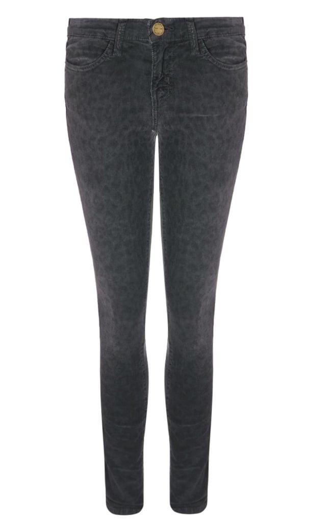 Current/Elliott Charcoal Leopard Corduroy Jeans ($185, originally $370)