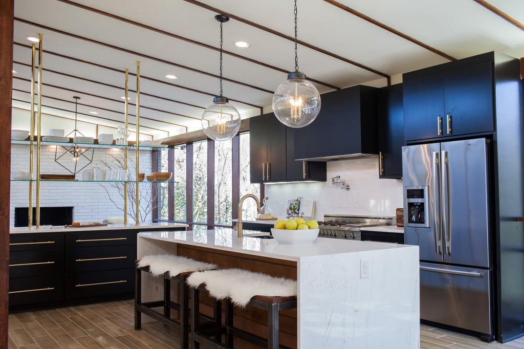 After cool clean and contemporary check out the full messy midcentury modern