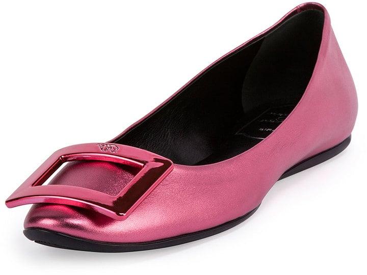 Roger Vivier Ballerina Buckle Flat ($595)