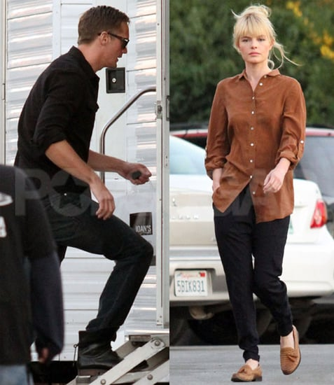 Pictures of Alexander Skarsgard Visiting Kate Bosworth on Set