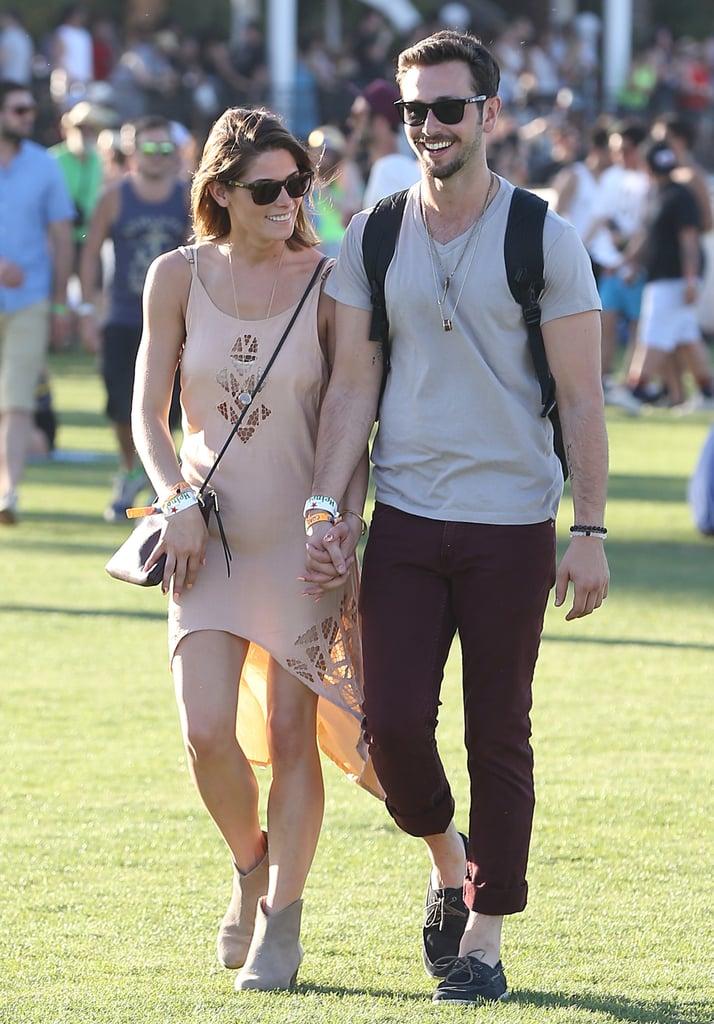 Ashley Greene walked hand in hand with boyfriend Paul Khoury.