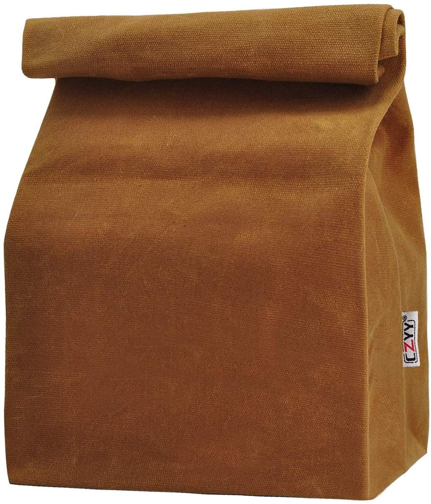 Rolltop Waxed Canvas Lunch Bag
