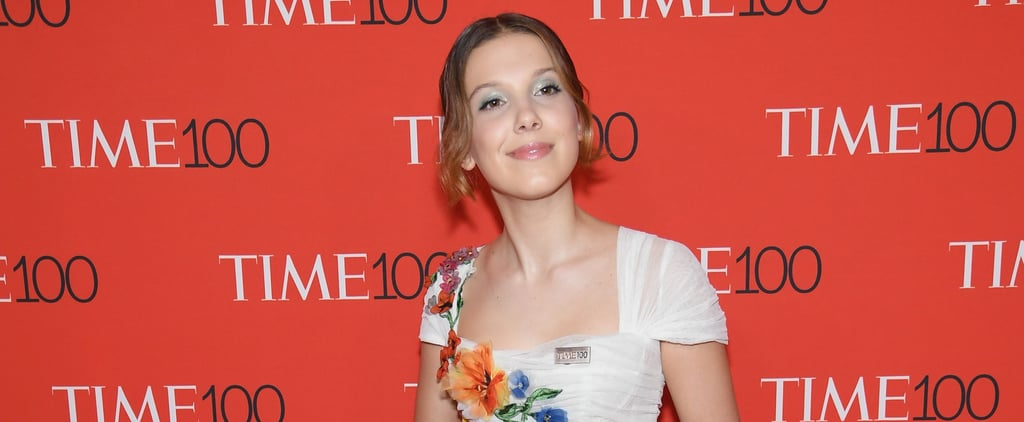 Millie Bobby Brown Floral Dress at Time 100 Gala 2018