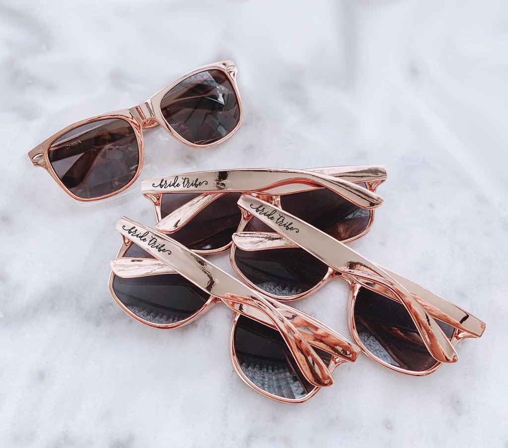 Rose-Gold Bride Tribe Bachelorette Sunglasses