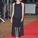 For the 2014 Paris premiere of Magic in the Moonlight, Emma channeled vintage glamour in a sheer, drop-waist Chloe creation.