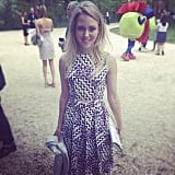 AnnaSophia Robb was lovely at the annual garden brunch.