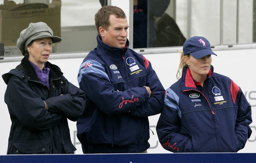 Princess Anne at a Jumping Event With Peter and Autumn Phillips in 2010 in Stroud, England