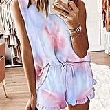 Zcdyn Tie-Dye Pajama Set