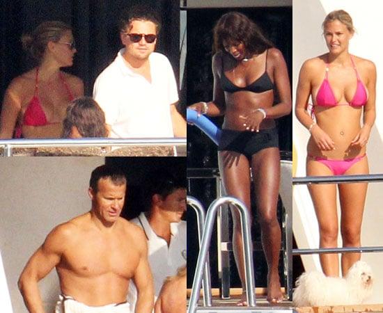 Pictures of Naomi Campbell and Bar Refaeli in Bikinis With Shirtless Vladislav Doronin and Leonardo DiCaprio