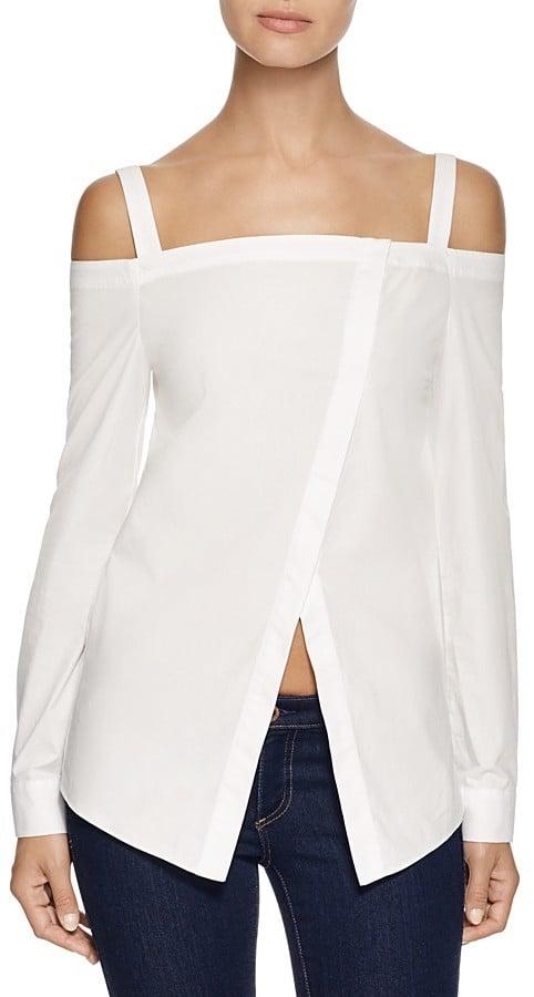 N. Nicholas Off the Shoulder Wrap Front Shirt ($265)