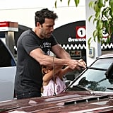 Ben Affleck Keeps His Car Squeaky Clean With His Little Helper