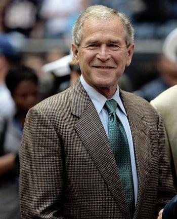 Front Page: Bush Makes Debut as Motivational Speaker