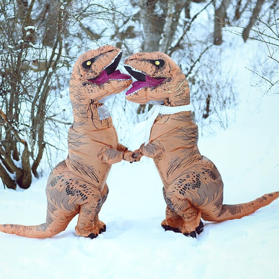 T-Rex Engagement Photo Shoot