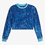 Converse x Miley Cyrus Women's Velvet Long-Sleeve Crop T-Shirt ($45)