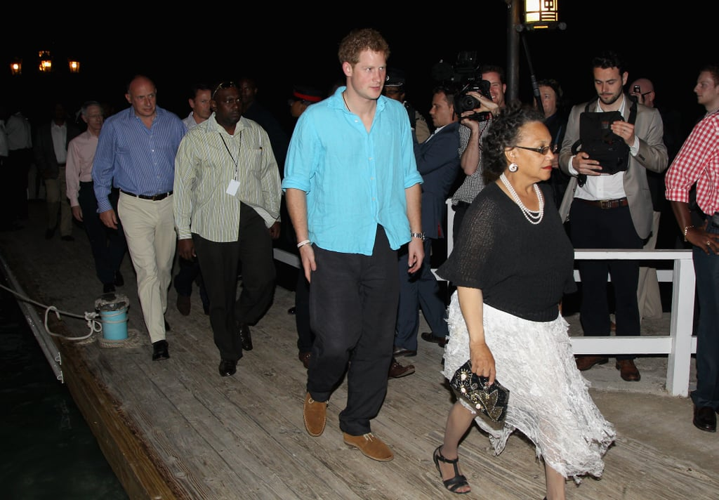 Prince Harry arrived at a Sandals in Jamaica.