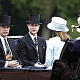 Pictured: Prince Andrew and Prince Edward.