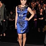 Vanessa Hudgens posed at the Naeem Khan runway show.
