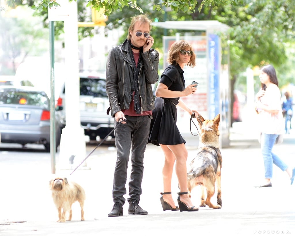 Jennifer Aniston and Rhys Ifans had a couple of furry costars on set on July 31.