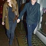 Eddie Redmayne walked hand in hand with Hannah Bagshawe.