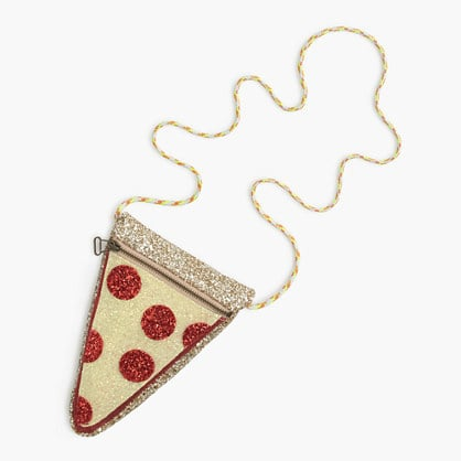 J.Crew Glitter Pizza Slice Bag