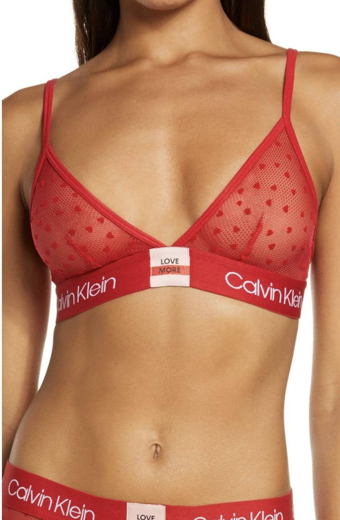 Calvin Klein Dot Mesh Triangle Bralette