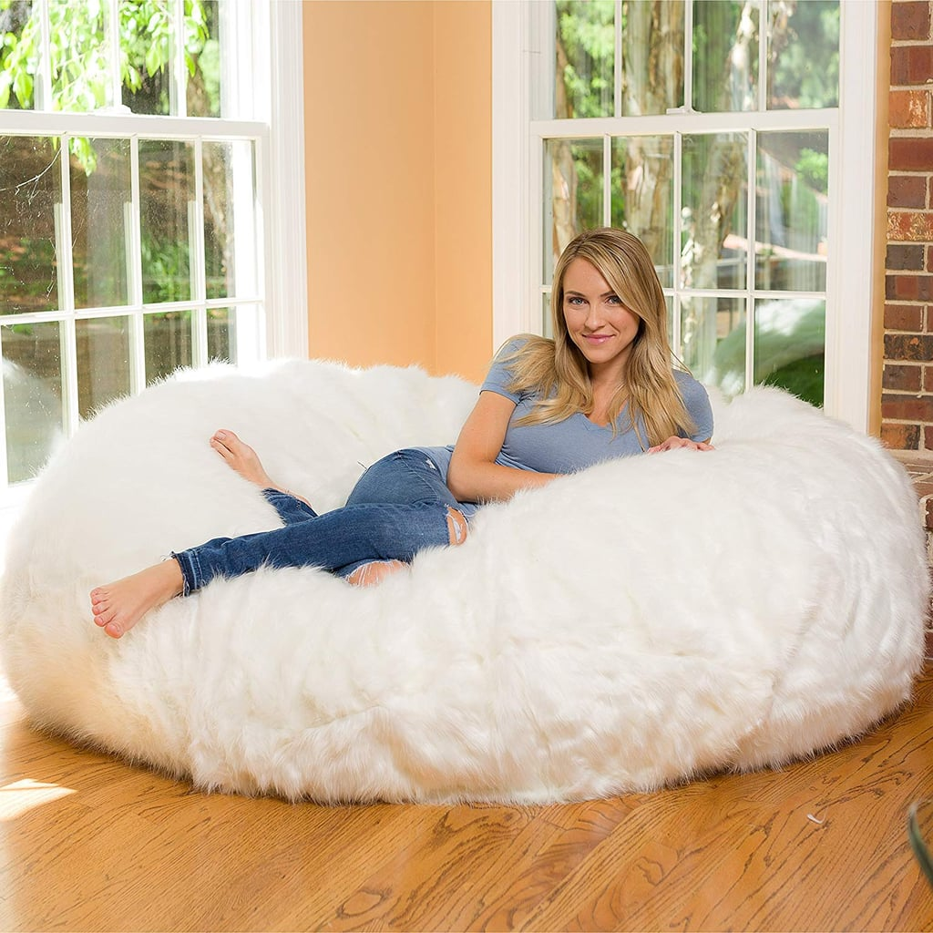 Buy the Comfy Sacks Fuzzy Bean Bag in White