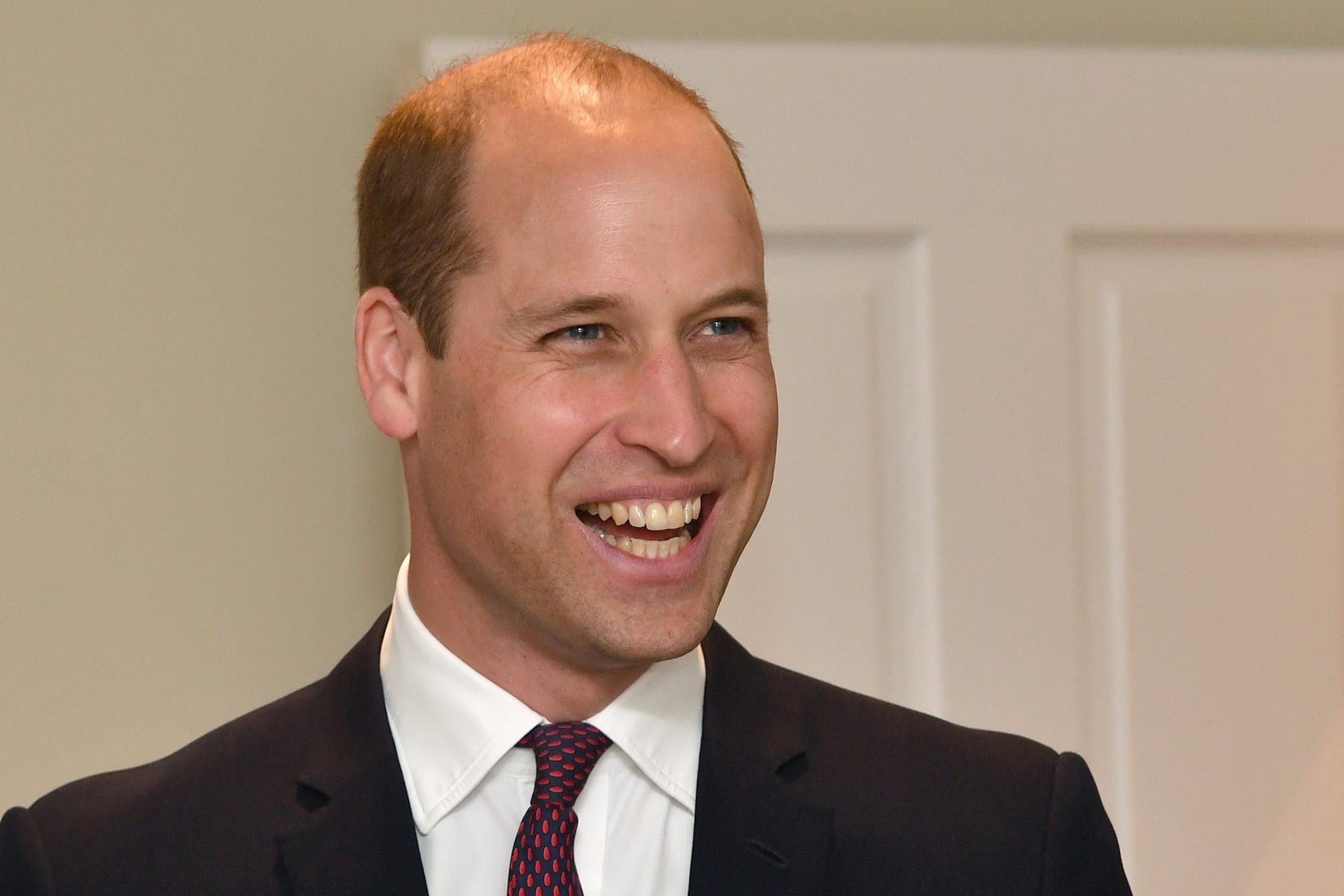 LIVERPOOL, ENGLAND - JUNE 19:  The Duke of Cambridge smiles as he meets families during a visit to James' Place in Liverpool on June 19, 2018 in Liverpool, England. James' Place is a non clinical centre for men in suicidal crisis which will fully open in mid July (Photo by Anthony Devlin - WPA Pool/Getty Images)