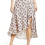 CODEXMODE Lilac Print Ruffle Skirt