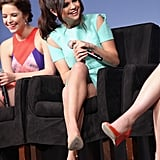 Selena Gomez had a laugh at the SXSW Spring Breakers press conference.