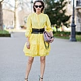 Buttercup Yellow With a Bold Belt