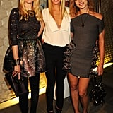 Gwyneth was flanked by her model friends Claudia Schiffer and Natalia Vodianova at a Fashion's Night Out event at Stella McCartney's London store in September 2010.