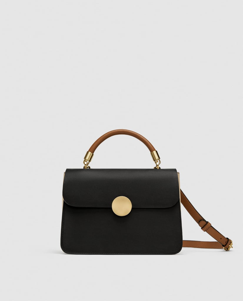 Zara Crossbody Bag With Handle and Metal Details