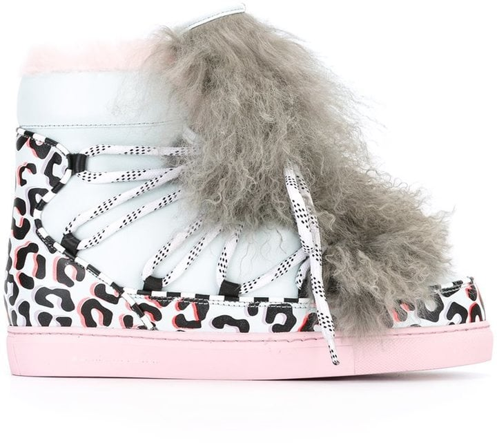 Sophia Webster's Fur-Detail Animal-Print Sneakers ($771) have got to be the funkiest moon boots on the market.