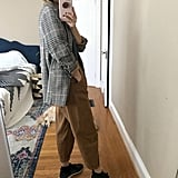 Old Navy Patterned Boyfriend Blazer With Paperbag Pants