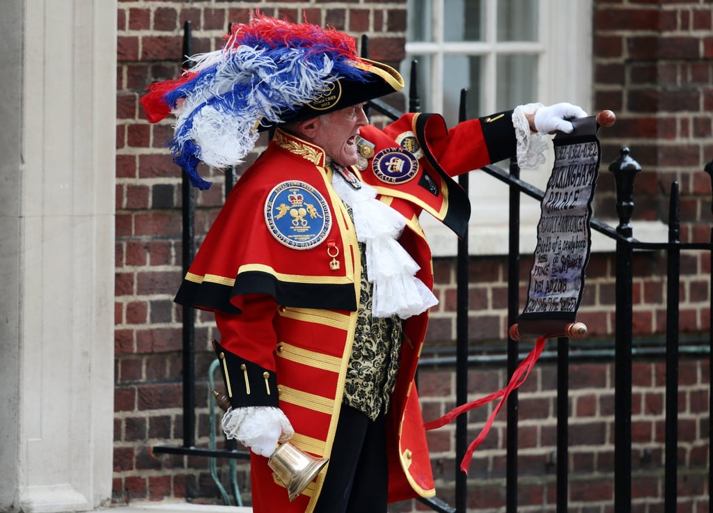 As the world eagerly awaited the birth of the third royal baby, many were surprised to see the news being proclaimed by a traditional (if not cartoon-like) town crier on the steps of St. Mary's Hospital. The news, however, was not in fact delivered by the heavily decorated gentleman. Instead, the official announcement was delivered by Kensington Palace on Twitter, while an easel was also displayed in front of Buckingham Palace. So, what was going on with that town crier? As it turns out, Tony Appleton is the 81-year-old official town crier for the town of Romford, England. He is, however, a sort of freelance town crier who is also available for hire to appear at corporate events and parties. To no surprise, Tony also previously appeared to announce the engagement of Prince Harry and Meghan Markle, as well as the births of Princess Charlotte and Prince George. So while he certainly has no official royal connections, at this point, he's a certified staple.      Related:                                                                                                           People on Twitter React to the New Royal Baby in the Most Brilliantly Patriotic Way