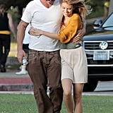 AnnaLynne McCord and Dominic Purcell take a walk in LA.