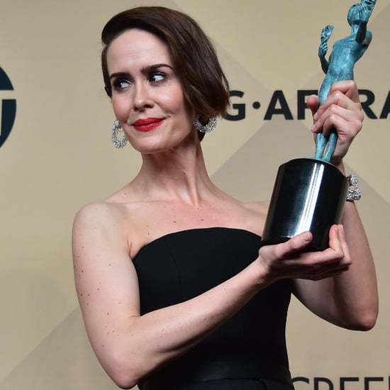 Sarah Paulson in the 2017 SAG Awards Press Room