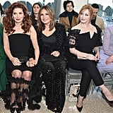 Kelli Giddish, Debra Messing, Mariska Hargitay, Christina Hendricks, and Coco Rocha at Christian Siriano Fall 2019