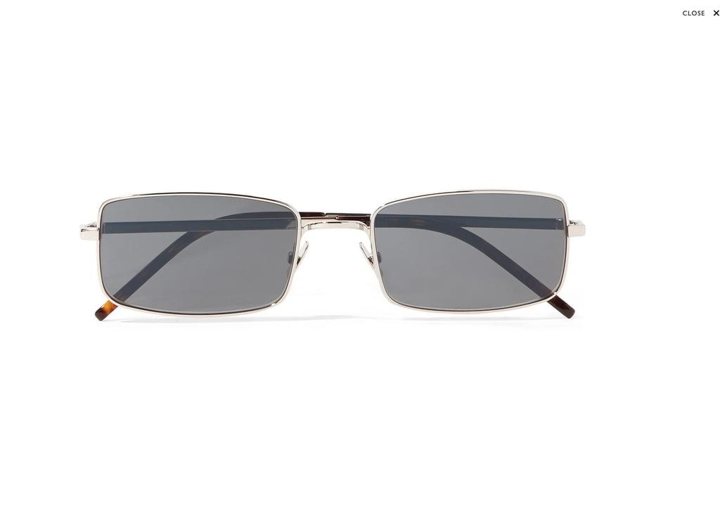 Saint Laurent Square-Frame Silver-Tone Sunglasses
