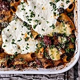 4-Cheese Sun-Dried Tomato and Spinach Drunken Pasta Bake