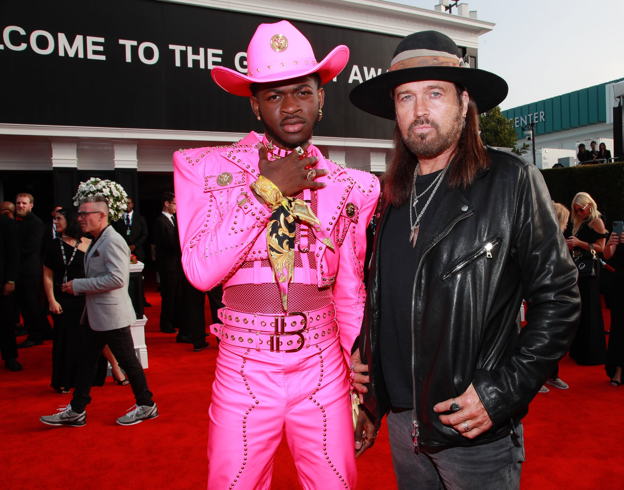 LOS ANGELES, CALIFORNIA - JANUARY 26: (L-R) Lil Nas X and Billy Ray Cyrus attend the 62nd Annual GRAMMY Awards at STAPLES Centre on January 26, 2020 in Los Angeles, California. (Photo by Rich Fury/Getty Images for The Recording Academy)