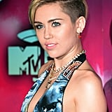 Miley Cyrus let her edgy cut do the talking at the MTV EMAs this weekend.