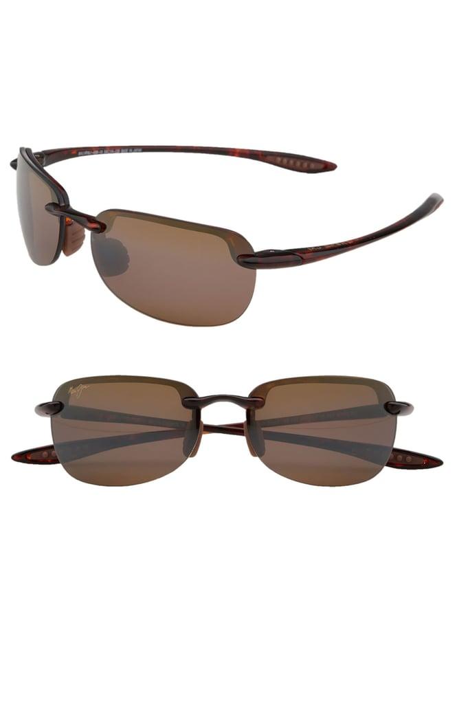 Maui Jim Sandy Beach 55mm Polarized Semi Rimless Sunglasses