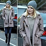 Work Emma Stone's adorable Fall layers.