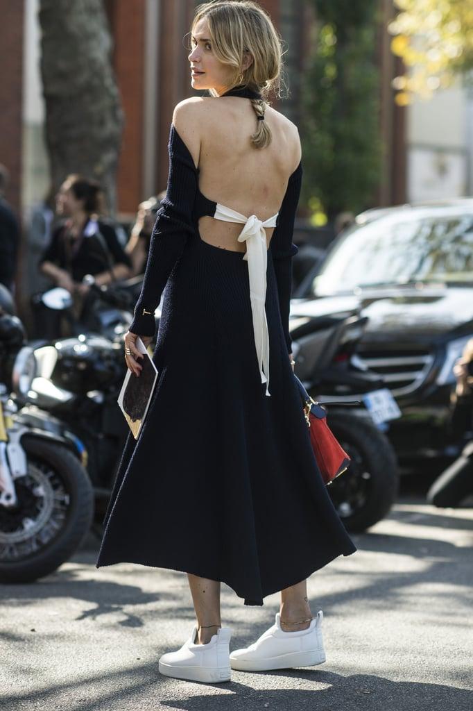 Pernille Teisbaek wearing Céline.