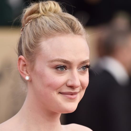 Dakota Fanning Eyebrows Beauty at the 2018 SAG Awards