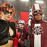Lindy Booth and Donald Faison in Kick-Ass 2.