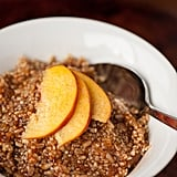 Quinoa Oatmeal With Ginger-Peach Compote