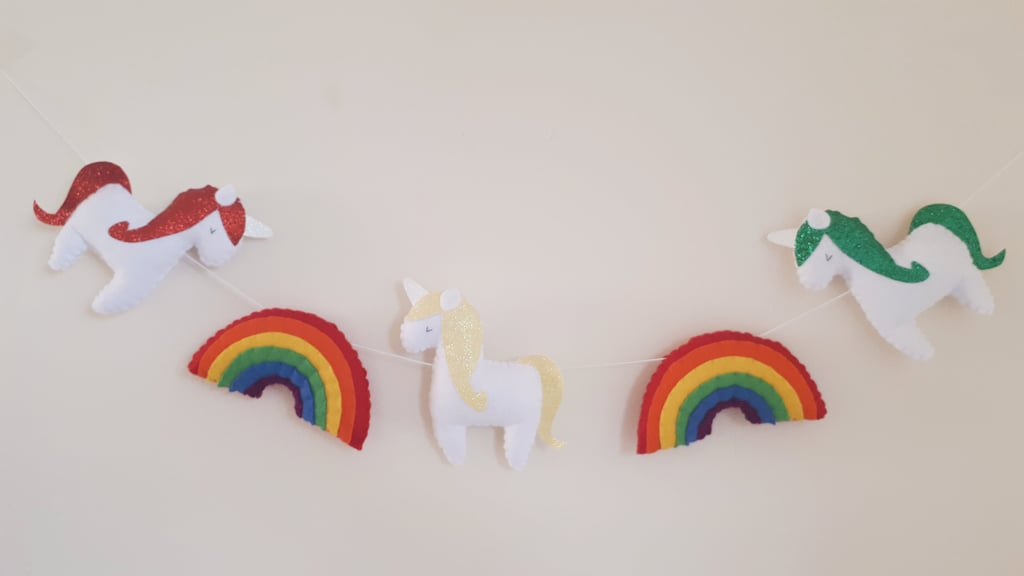 Rainbow Clouds Nursery Garland