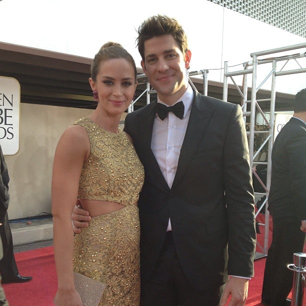 Emily Blunt and John Krasinski made a gorgeous couple on the Golden Globes red carpet. Source: Instagram user goldenglobes